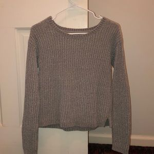 Aeropostale Long Sleeve Velvet Woven Sweater